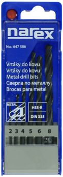 6-SET METAL HSS - Sada vrtáků do kovu HSS-R